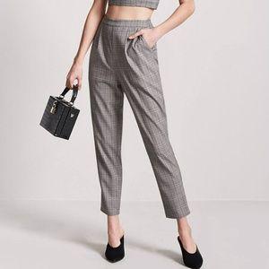 Forever21 glenplaid print pants
